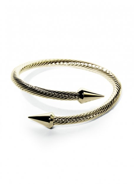 serpent design bangle (gold)
