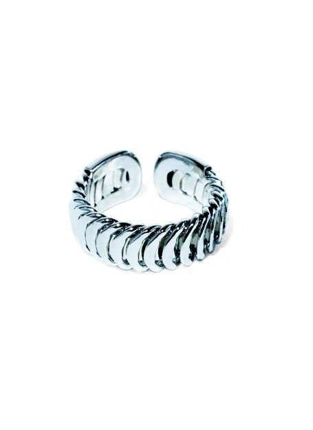 cater-pillar ring (silver)