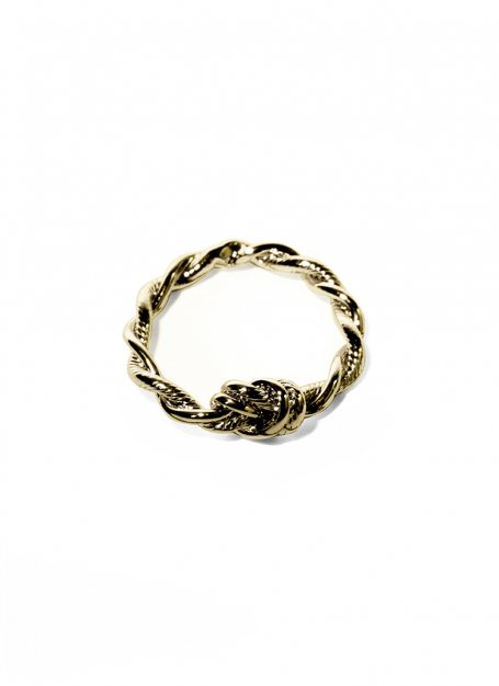 twist chain ring (gold)