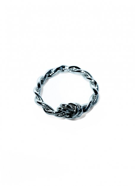 twist chain ring (silver)