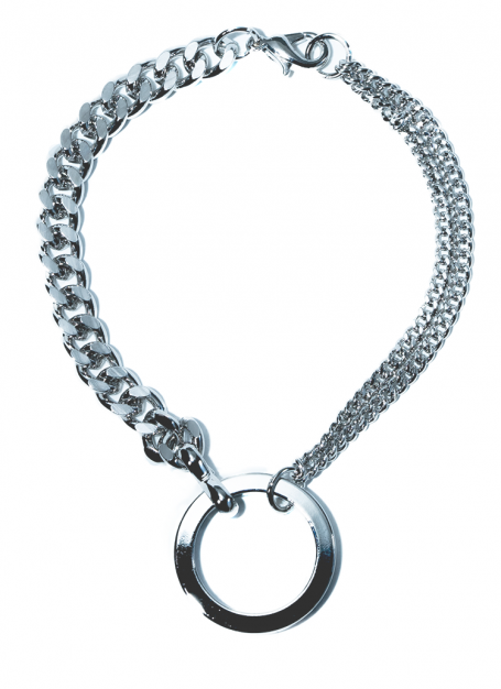 chanky chain ring bracelet (silver)