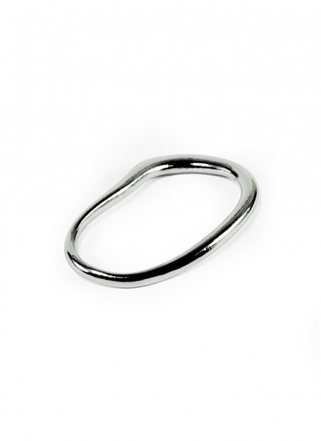 fin hoop ring (silver)