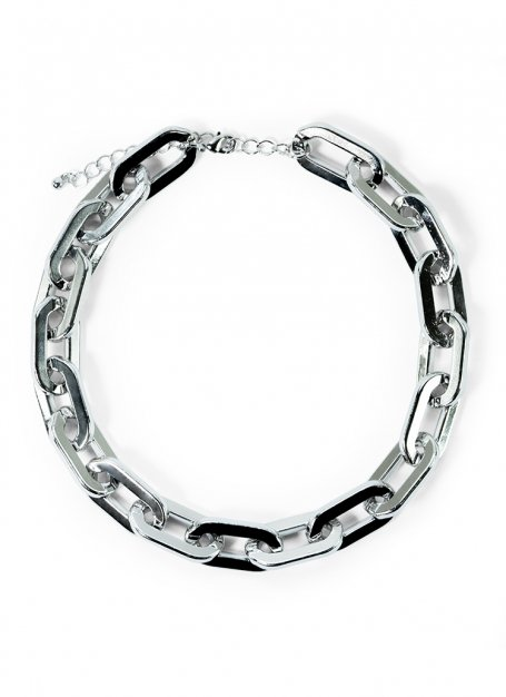 hard link necklace (silver)
