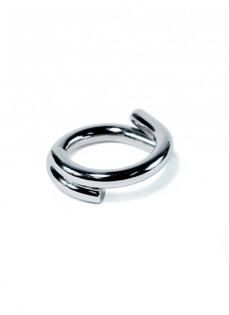 semicircles design ring (silver)