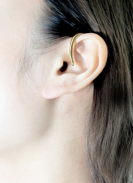 hunging earcuff (gold)