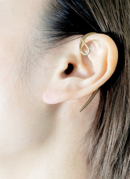 hone hunging earcuff (gold)