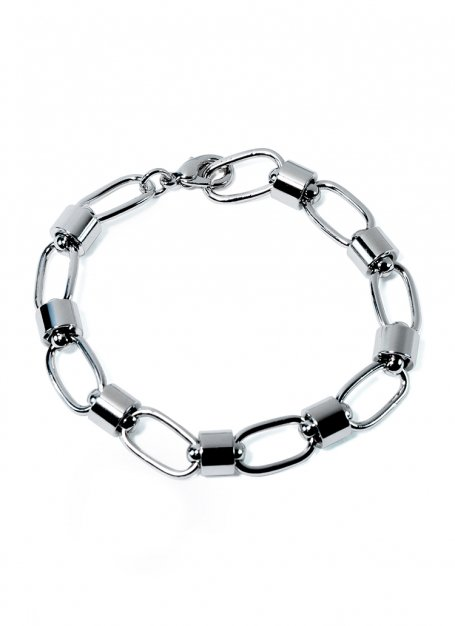 anchor chain bracelet (silver)