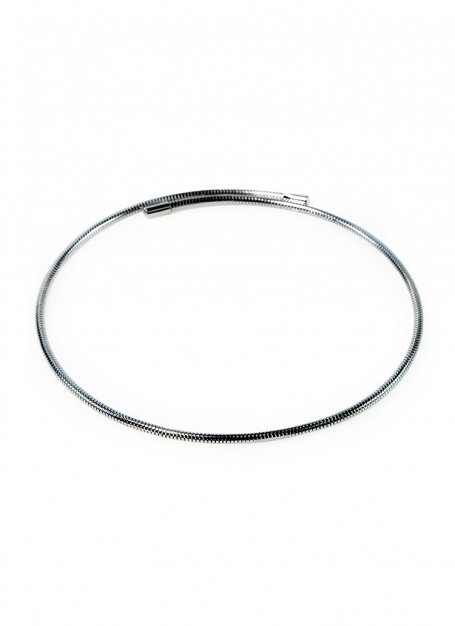 spring-loaded choker (silver)