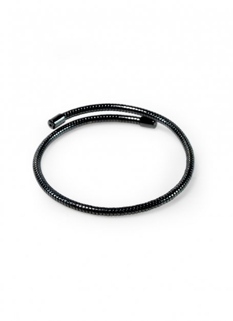 spring-loaded bracelet (black)