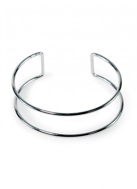 Obi design bangle (silver)