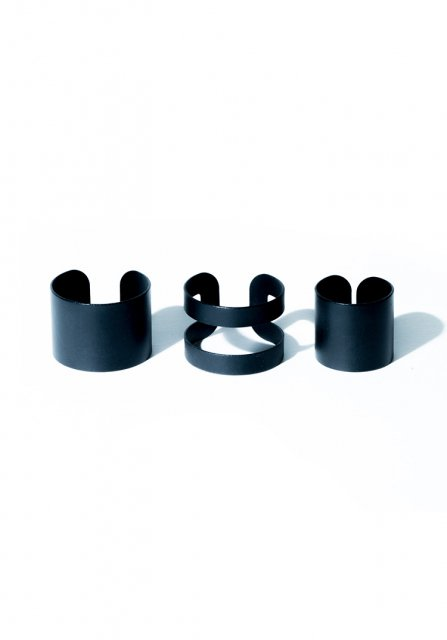 wide ring set (matteblack)