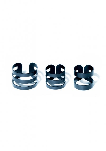 wide ring set (lineblack)
