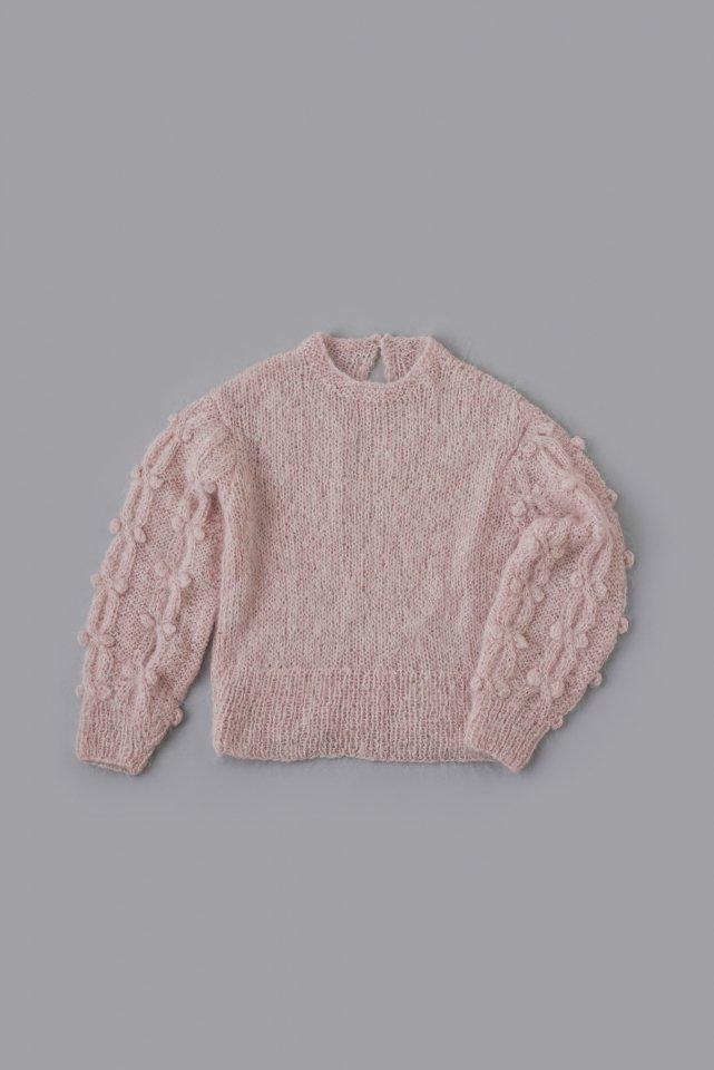 クロスグリスリーブのセーター