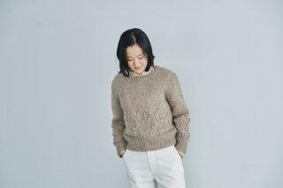 モヘヤのリーフ模様セーター キット