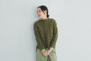 ウールタムの交差模様セーター キット
