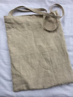 patchwork tote bag (antique linen)