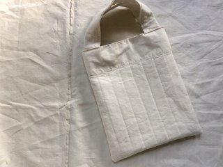 quilting tote bag (antique linen)