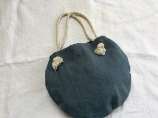 antiquelinen circle bag