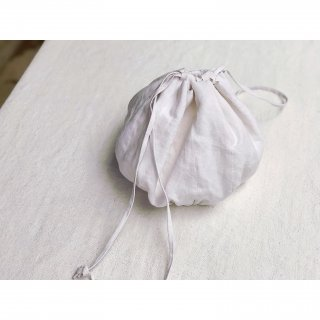 antiquelinen ball bag(L)