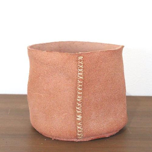 レザーポット5号鉢(toko)