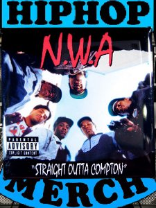 "NWA ""Straight Outta Compton"" Button"