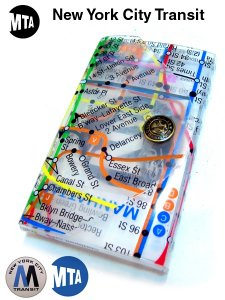 MANHATTAN SUBWAY MAP Card Case