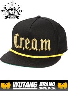 """WU-TANG LTD """"The Wu C.R.E.A.M. Strapback"""" Cap"""