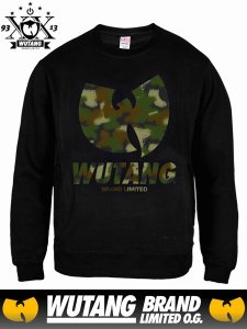 WUTANG LTD Spray Camo CREWNECK