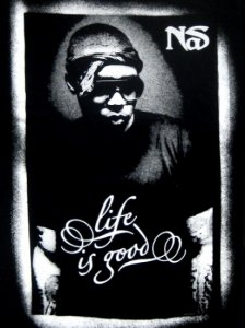 "Nas ""Life Is Good"" Posterized Tee"