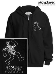"Okayplayer D'Angelo and The Vanguard ""The Charade Chalkline"" Zip Hoodie"