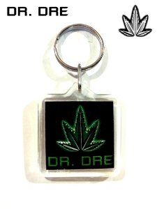 Dr. Dre Pot Leaf Key Chain
