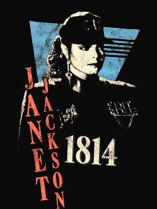 "JANET JACKSON ""RHYTHM NATION 1814"" T-Shirt"