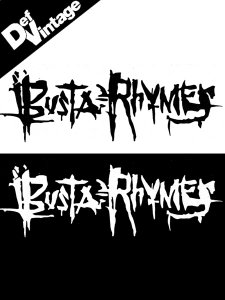 "Busta Rhymes ""Scratchy Writing Logo"" Sticker"