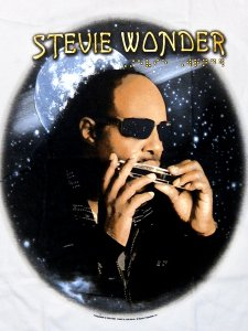 "【DEAD STOCK】Stevie Wonder  ""Summer's Night Tour""  T-Shirt"