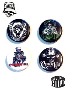 Cypress Hill Official Button Pack (4個セット)