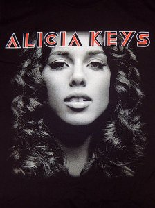 "【'07 DEAD STOCK】 ALICIA KEYS ""AS I AM"" T-SHIRT"