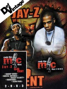 "Jay Z & 50Cent ""Rock the Mic 2003"" T-Shirt"