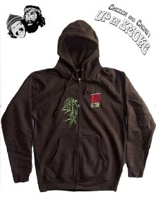 "Cheech & Chong ""LIght Up Tour"" Embroidered Logo Zip Up Hoody"