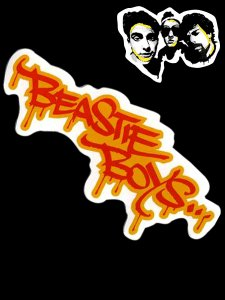 Beastie Boys Grafitti Logo Sticker