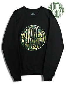 Stones Throw Camo Logo Crew Sweat