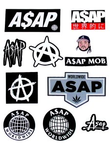 A$AP World Wide 11piece Sticker Pack (ステッカー11種セット)