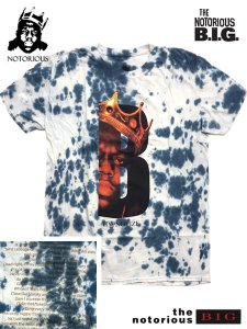 "The Notorious B.I.G. ""Hypnotize B Crown"" Tie Dye T-Shirt"