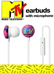 Tribeca MTV Retro Earbud In-Ear Headphone with Microphone