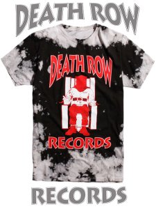 Death Row Records Official Black Tie Dye T-Shirt