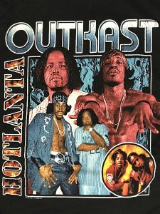 "OUTKAST ""HOTLANTA BAND"" Vintage Style Official T-Shirt"