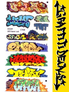 GRAFFITI DECALS #2249 ステッカー
