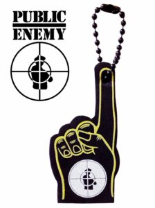 """Public Enemy #1"" Form Finger Key Chain"
