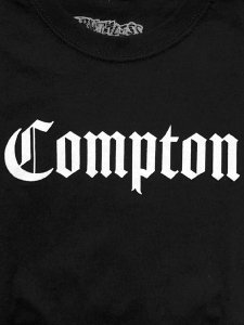 "RUTHLESS RECORDS, N.W.A. ""COMPTON"" Official T-Shirt"