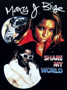 "Mary J Blige ""Share My World"" Vintage Style  T-Shirt"