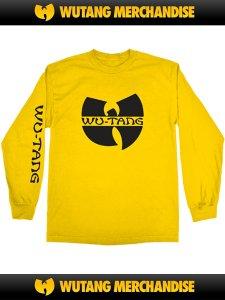"""WU-TANG CLAN """"WU Logo SLV Print"""" LS T-Shirt"""